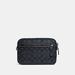 COACH 69355 Metropolitan Soft Belt Bag In Signature Canvas MIDNIGHT NAVY/BLACK ANTIQUE NICKEL