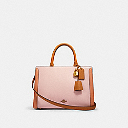 COACH 693 - ZOE CARRYALL IN COLORBLOCK OL/BLOSSOM MULTI