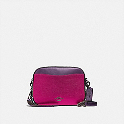 COACH 69410 - CAMERA BAG WITH RIVETS V5/METALLIC DARK PINK MULTI