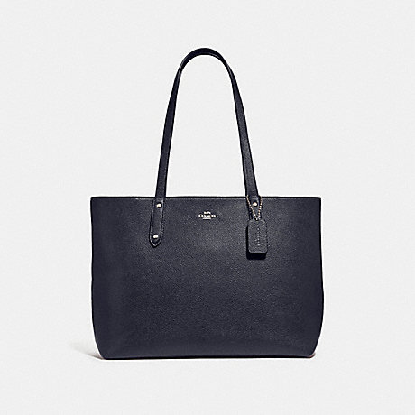 COACH 69424 CENTRAL TOTE WITH ZIP SV/MIDNIGHT-NAVY