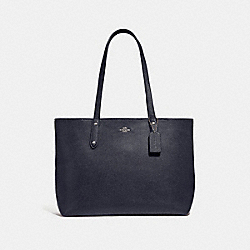 COACH 69424 - CENTRAL TOTE WITH ZIP SV/MIDNIGHT NAVY