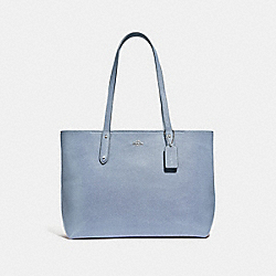 CENTRAL TOTE WITH ZIP - 69424 - SV/MIST