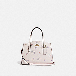 COACH 69431 - CHARLIE CARRYALL 28 WITH MEADOW PRAIRIE PRINT GOLD/CHALK