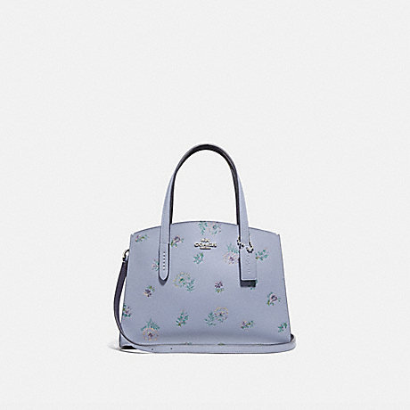 COACH 69431 CHARLIE CARRYALL 28 WITH MEADOW PRAIRIE PRINT SILVER/MIST