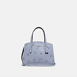 COACH 69431 - CHARLIE CARRYALL 28 WITH MEADOW PRAIRIE PRINT SILVER/MIST