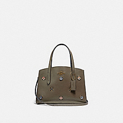 COACH 69432 - CHARLIE CARRYALL 28 WITH SCATTERED RIVETS BRASS/MOSS