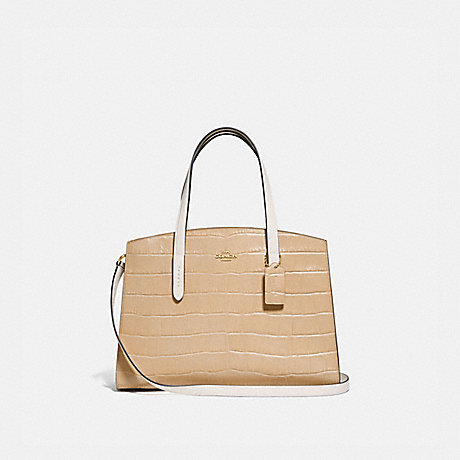 COACH 69434 CHARLIE CARRYALL GOLD/BEECHWOOD-MULTI