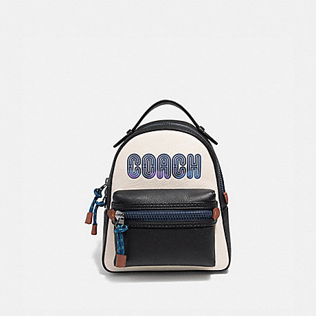 COACH 69440 CAMPUS BACKPACK 23 WITH COACH PRINT CHALK/GUNMETAL