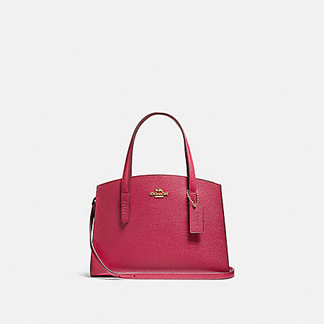 COACH 69446 CHARLIE CARRYALL 28 IN COLORBLOCK GD/BRIGHT-CHERRY-MULTI