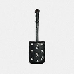 COACH 69485 Luggage Tag With Line Arrow Print BLACK/CHALK
