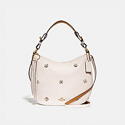 COACH 69507 - SUTTON HOBO WITH SCATTERED RIVETS BRASS/CHALK
