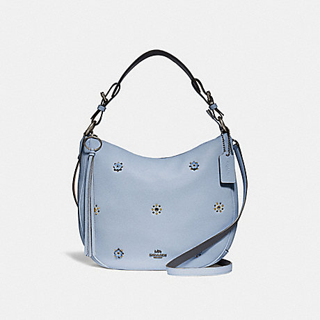 COACH SUTTON HOBO WITH SCATTERED RIVETS - PEWTER/MIST - 69507