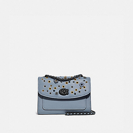 COACH 69508 PARKER 18 WITH SCATTERED RIVETS PEWTER/MIST