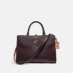 COACH 69514 - SERRA SATCHEL IN COLORBLOCK BRASS/OXBLOOD MULTI