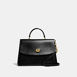 COACH 69519 - PARKER TOP HANDLE 32 BRASS/BLACK