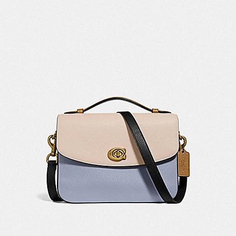 COACH 69524 CASSIE CROSSBODY IN COLORBLOCK BRASS/MIST-STRAW-MULTI