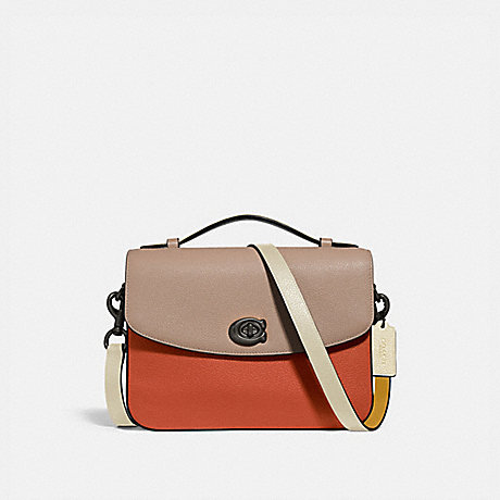 COACH 69524 CASSIE CROSSBODY IN COLORBLOCK V5/GINGER MULTI