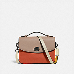 CASSIE CROSSBODY IN COLORBLOCK - V5/GINGER MULTI - COACH 69524