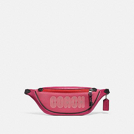 COACH 69525 BELT BAG 40 WITH COACH PRINT BRIGHT-CHERRY-MULTI/GUNMETAL