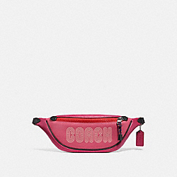 COACH 69525 Belt Bag 40 With Coach Print BRIGHT CHERRY MULTI/GUNMETAL
