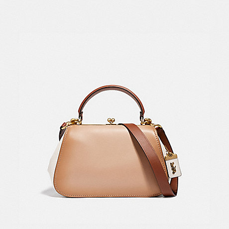 COACH 69535 FRAME BAG IN COLORBLOCK B4/BEECHWOOD