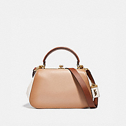 COACH 69535 - FRAME BAG IN COLORBLOCK B4/BEECHWOOD