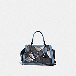 COACH 69557 Dreamer 21 In Signature Canvas Patchwork V5/CHARCOAL SLATE MULTI