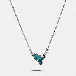 COACH 69584 - REXY NECKLACE SILVER/GREEN
