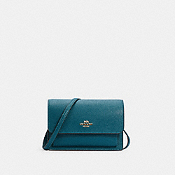 FOLDOVER BELT BAG - IM/TEAL INK - COACH 6959
