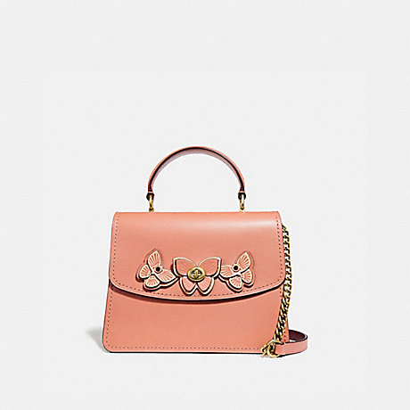 COACH 69606 PARKER TOP HANDLE WITH BUTTERFLY APPLIQUE B4/LIGHT-PEACH