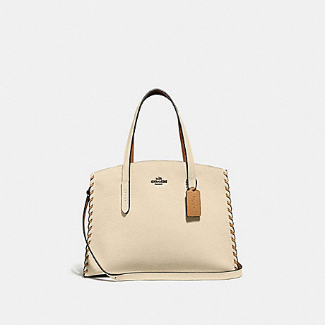 COACH 69609 CHARLIE CARRYALL IN COLORBLOCK WITH WHIPSTITCH IVORY-MULTI/GUNMETAL
