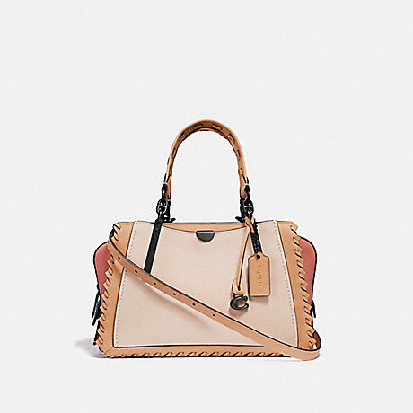 COACH 69612 DREAMER IN COLORBLOCK WITH WHIPSTITCH IVORY MULTI/PEWTER