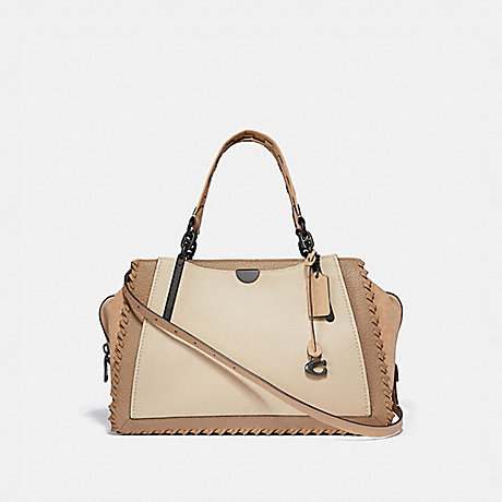 COACH 69613 DREAMER 36 IN COLORBLOCK WITH WHIPSTITCH IVORY-MULTI/PEWTER