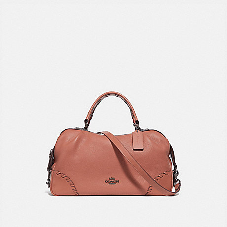 COACH 69618 LANE SATCHEL WITH WHIPSTITCH LIGHT-PEACH/PEWTER