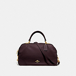 LANE SATCHEL - 69621 - OXBLOOD/GOLD