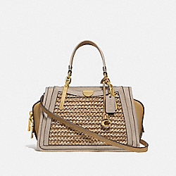 COACH 69623 - DREAMER 21 IN COLORBLOCK STRAW/TAN MULTI/BRASS