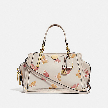 COACH 69627 DREAMER 21 WITH BUTTERFLY PRINT CHALK/GOLD