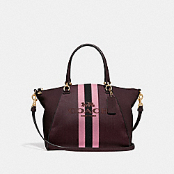 PRAIRIE SATCHEL WITH HORSE AND CARRIAGE - 69646 - GOLD/OXBLOOD