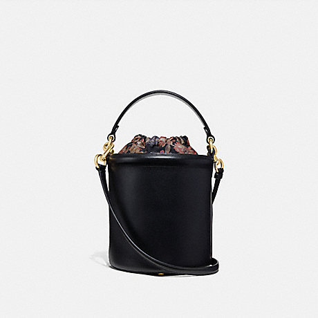 COACH 69653 DRAWSTRING BUCKET BAG BLACK/GOLD