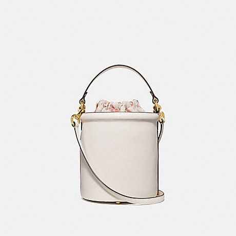 COACH 69653 DRAWSTRING BUCKET BAG CHALK/GOLD