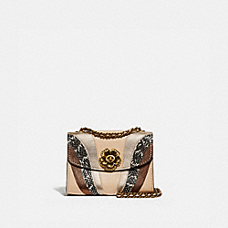 COACH 69659 - PARKER 18 WITH WAVE PATCHWORK AND SNAKESKIN DETAIL IVORY MULTI/BRASS