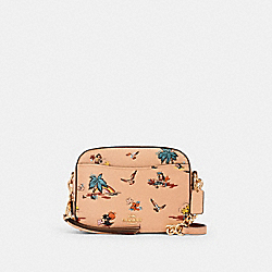 COACH 69665 - CAMERA BAG WITH PALM PRINT GD/BEECHWOOD