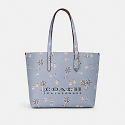 COACH 69668 Highline Tote With Hawaiian Print SV/MIST