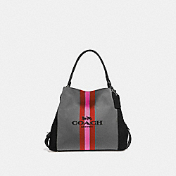 COACH 69815 - EDIE SHOULDER BAG 31 WITH HORSE AND CARRIAGE SV/CHARCOAL/BLACK