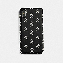 COACH 69823 Iphone X/xs Case With Line Arrow Print BLACK/CHALK