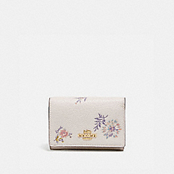 COACH 69851 - SMALL FLAP WALLET WITH MEADOW PRAIRIE PRINT GD/CHALK