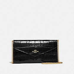 COACH 69854 - ENVELOPE CHAIN WALLET GOLD/BLACK
