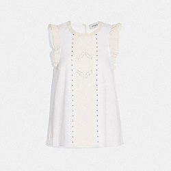 TOP WITH STUDS - 69908 - WHITE