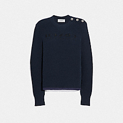 COACH 69965 Reverse Coach Sweater NAVY