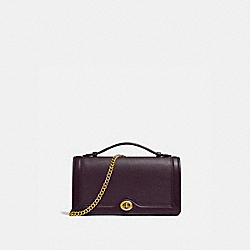 COACH 69969 Riley Chain Clutch B4/DARK EGGPLANT